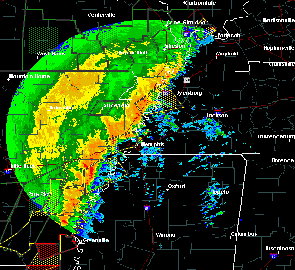 Radar Image for Severe Thunderstorms near Brighton, TN at 1/11/2020 3:26 AM CST