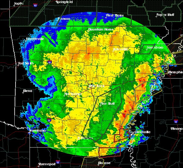 Radar Image for Severe Thunderstorms near Elaine, AR at 1/11/2020 3:35 AM CST