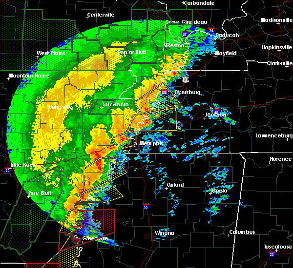 Radar Image for Severe Thunderstorms near Lakeland, TN at 1/11/2020 3:39 AM CST