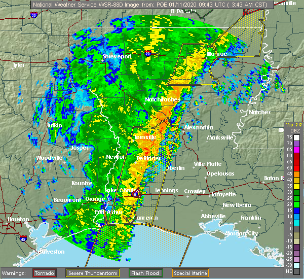 Radar Image for Severe Thunderstorms near Urania, LA at 1/11/2020 3:46 AM CST