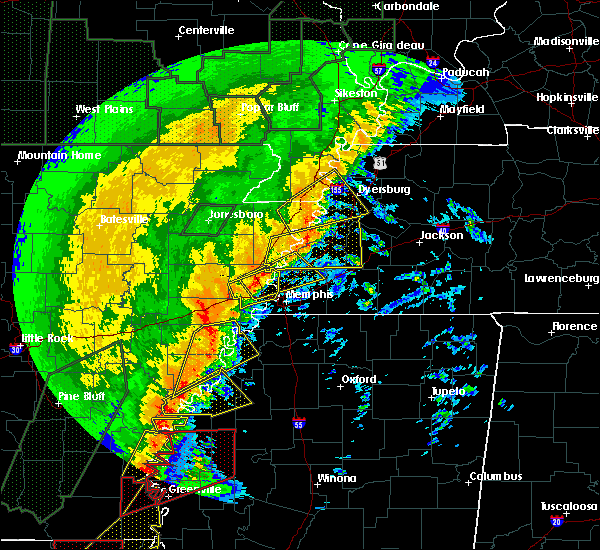 Radar Image for Severe Thunderstorms near Hughes, AR at 1/11/2020 3:48 AM CST