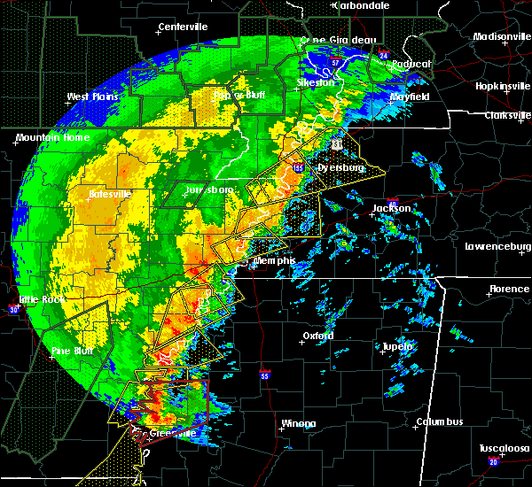 Radar Image for Severe Thunderstorms near Brighton, TN at 1/11/2020 3:59 AM CST