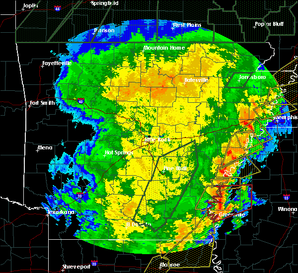 Radar Image for Severe Thunderstorms near Ruleville, MS at 1/11/2020 4:00 AM CST