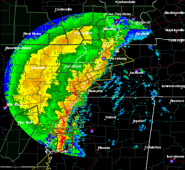 Radar Image for Severe Thunderstorms near Arlington, TN at 1/11/2020 4:12 AM CST