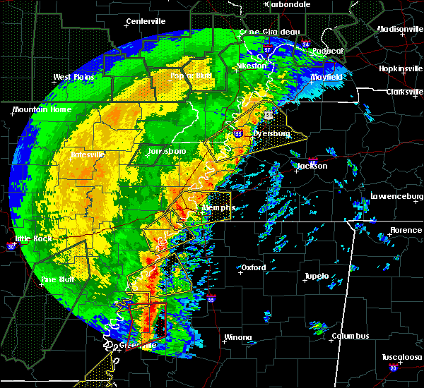 Radar Image for Severe Thunderstorms near Senatobia, MS at 1/11/2020 4:19 AM CST
