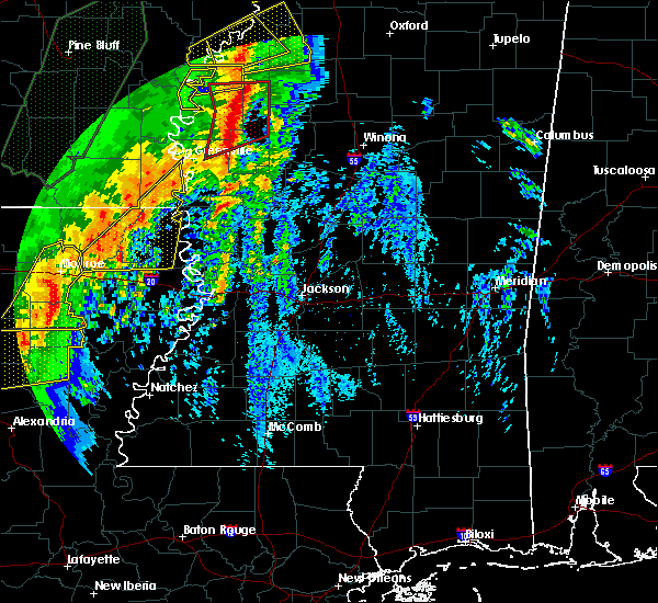 Radar Image for Severe Thunderstorms near Carrollton, MS at 1/11/2020 4:21 AM CST