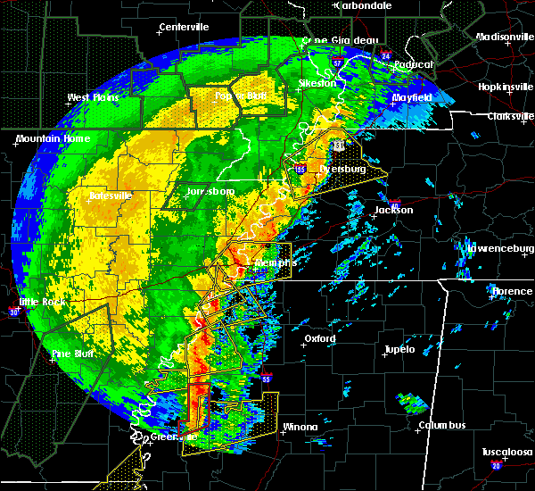 Radar Image for Severe Thunderstorms near Clarksdale, MS at 1/11/2020 4:24 AM CST