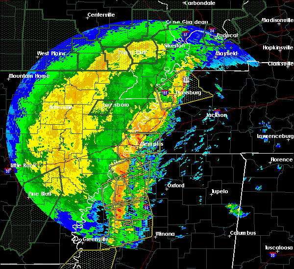 Radar Image for Severe Thunderstorms near Senatobia, MS at 1/11/2020 4:43 AM CST