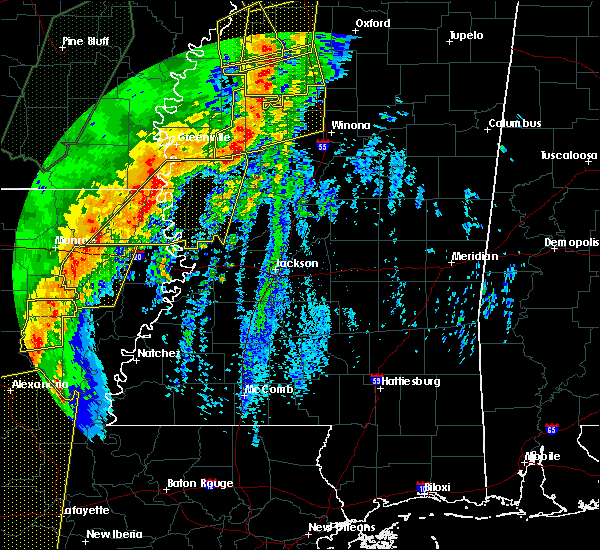 Radar Image for Severe Thunderstorms near Carrollton, MS at 1/11/2020 4:45 AM CST