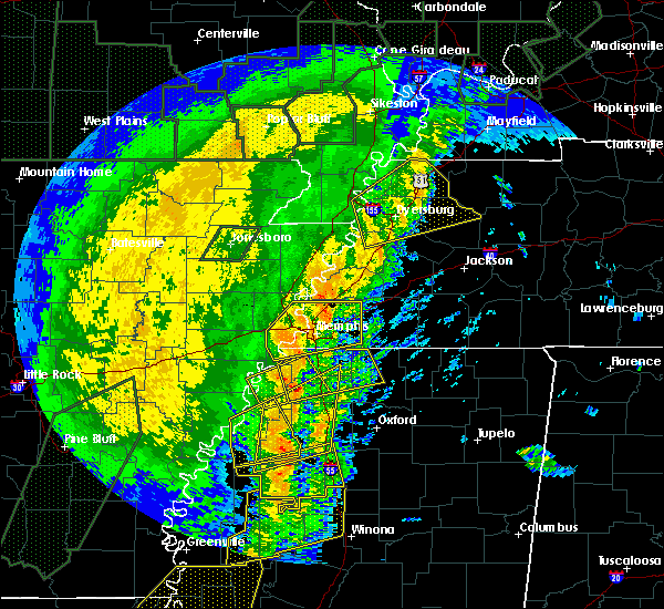Radar Image for Severe Thunderstorms near Senatobia, MS at 1/11/2020 4:48 AM CST