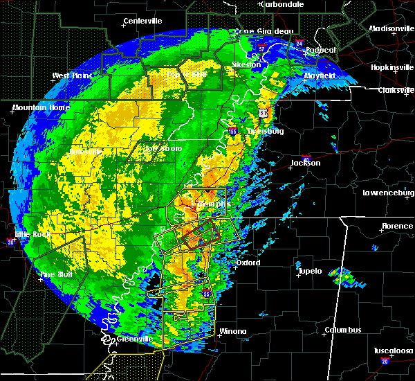 Radar Image for Severe Thunderstorms near Senatobia, MS at 1/11/2020 4:54 AM CST