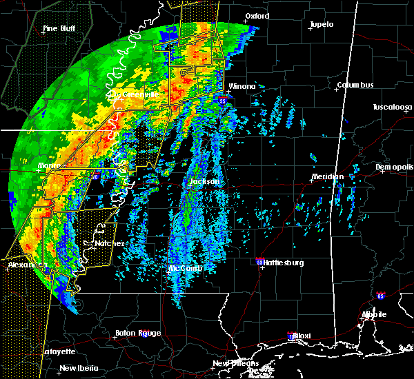 Radar Image for Severe Thunderstorms near Carrollton, MS at 1/11/2020 5:00 AM CST