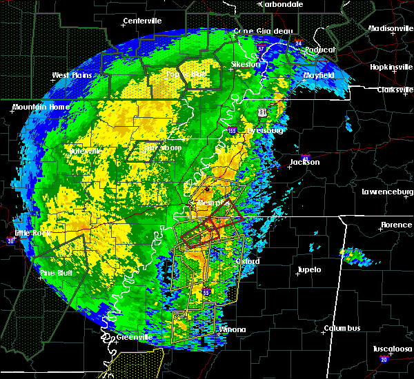 Radar Image for Severe Thunderstorms near Collierville, TN at 1/11/2020 5:04 AM CST