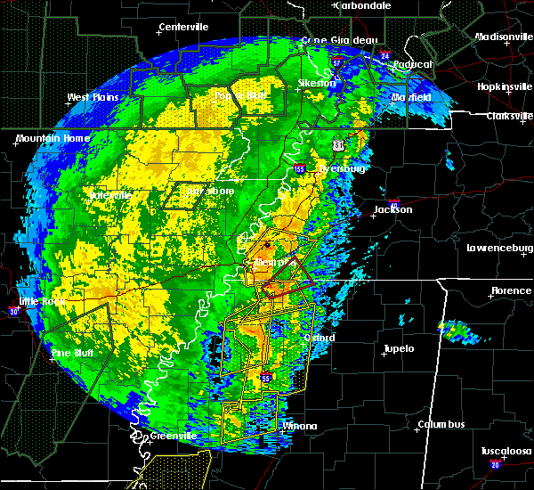 Radar Image for Severe Thunderstorms near Holly Springs, MS at 1/11/2020 5:10 AM CST