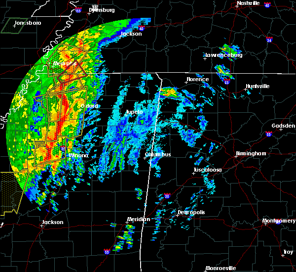 Radar Image for Severe Thunderstorms near Carrollton, MS at 1/11/2020 5:17 AM CST