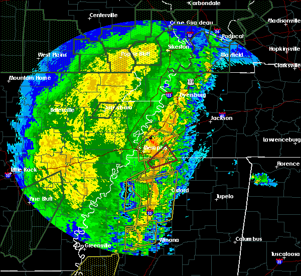 Radar Image for Severe Thunderstorms near Collierville, TN at 1/11/2020 5:16 AM CST