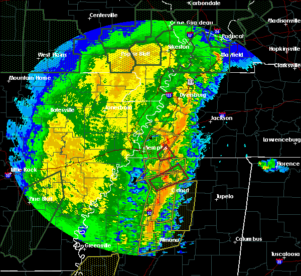 Radar Image for Severe Thunderstorms near Holly Springs, MS at 1/11/2020 5:25 AM CST