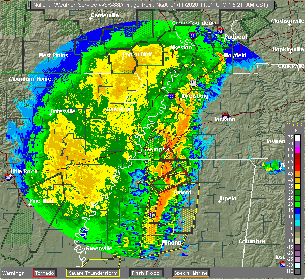 Radar Image for Severe Thunderstorms near Holly Springs, MS at 1/11/2020 5:33 AM CST