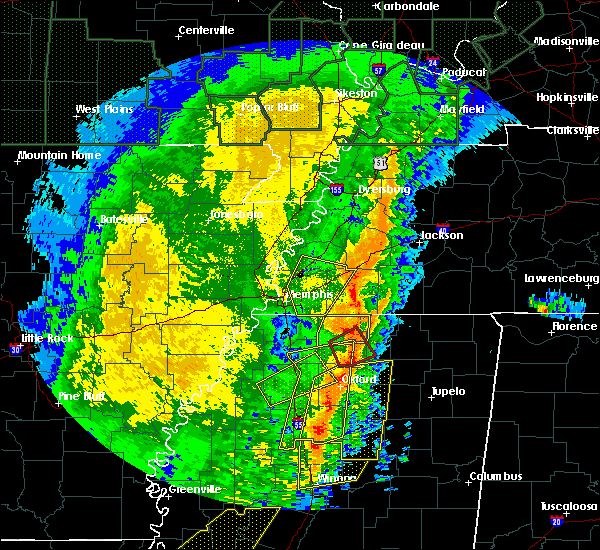 Radar Image for Severe Thunderstorms near Somerville, TN at 1/11/2020 5:39 AM CST