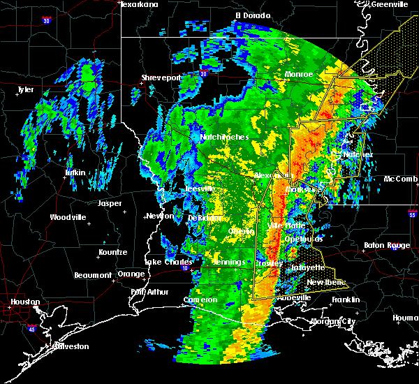 Radar Image for Severe Thunderstorms near Wisner, LA at 1/11/2020 5:46 AM CST