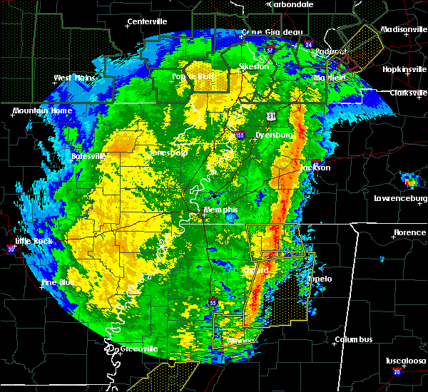 Radar Image for Severe Thunderstorms near Hickory Flat, MS at 1/11/2020 6:04 AM CST