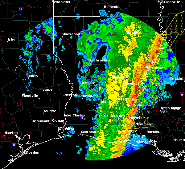 Radar Image for Severe Thunderstorms near Erwinville, LA at 1/11/2020 6:10 AM CST