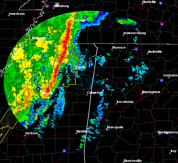Radar Image for Severe Thunderstorms near Corinth, MS at 1/11/2020 6:12 AM CST