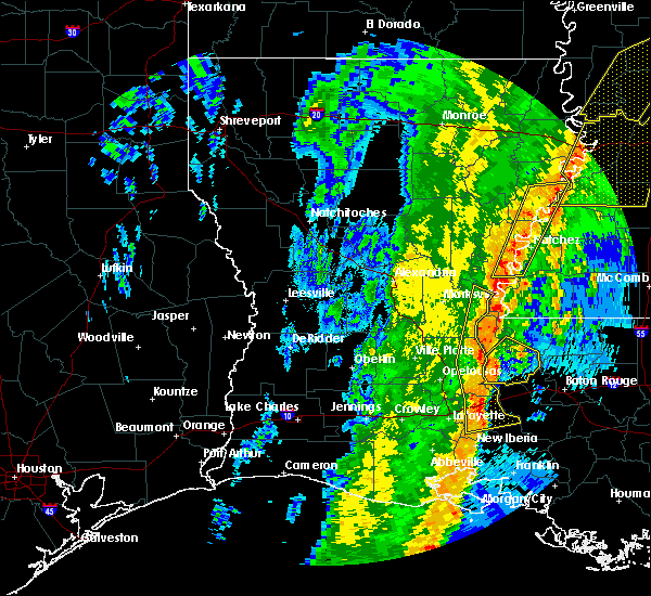 Radar Image for Severe Thunderstorms near Erwinville, LA at 1/11/2020 6:27 AM CST