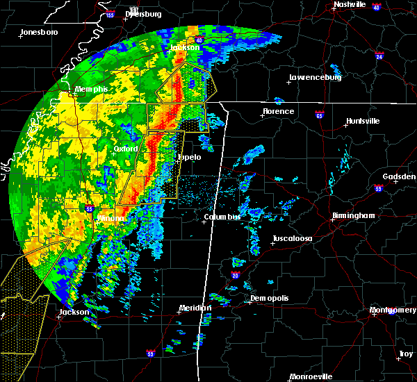 Radar Image for Severe Thunderstorms near Corinth, MS at 1/11/2020 6:33 AM CST