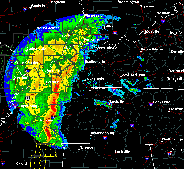 Radar Image for Severe Thunderstorms near Lexington, TN at 1/11/2020 6:44 AM CST