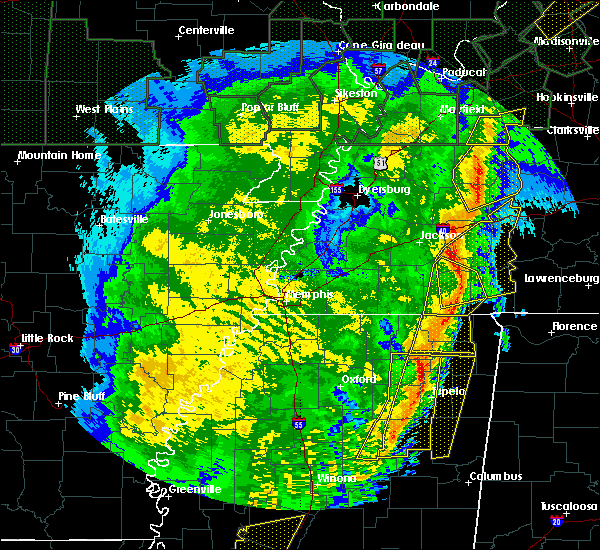 Radar Image for Severe Thunderstorms near Henderson, TN at 1/11/2020 6:45 AM CST