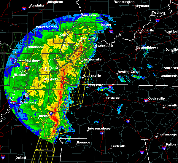 Radar Image for Severe Thunderstorms near Bruceton, TN at 1/11/2020 6:58 AM CST