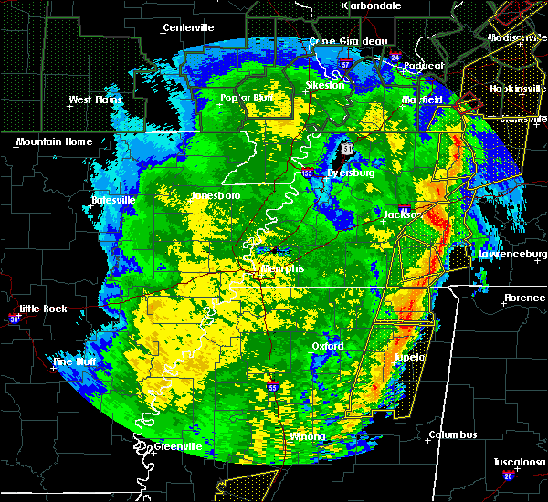 Radar Image for Severe Thunderstorms near Henderson, TN at 1/11/2020 6:59 AM CST