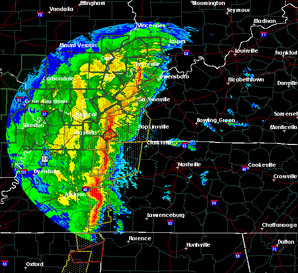 Radar Image for Severe Thunderstorms near Cerulean, KY at 1/11/2020 7:04 AM CST