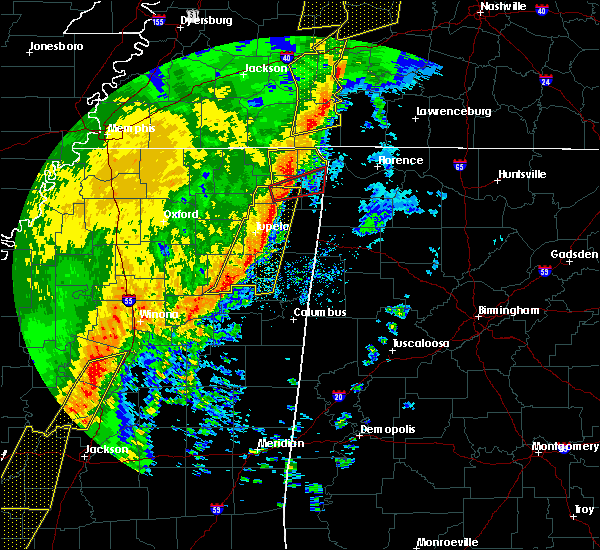 Radar Image for Severe Thunderstorms near Littleville, AL at 1/11/2020 7:17 AM CST