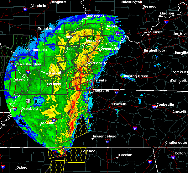 Radar Image for Severe Thunderstorms near Clarksville, TN at 1/11/2020 7:26 AM CST