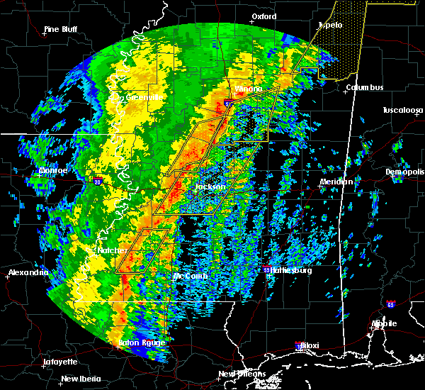 Radar Image for Severe Thunderstorms near Crystal Springs, MS at 1/11/2020 7:33 AM CST