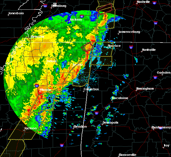 Radar Image for Severe Thunderstorms near Walnut Grove, TN at 1/11/2020 7:40 AM CST