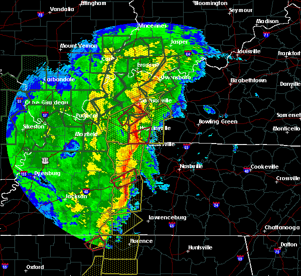 Radar Image for Severe Thunderstorms near Clarksville, TN at 1/11/2020 7:40 AM CST