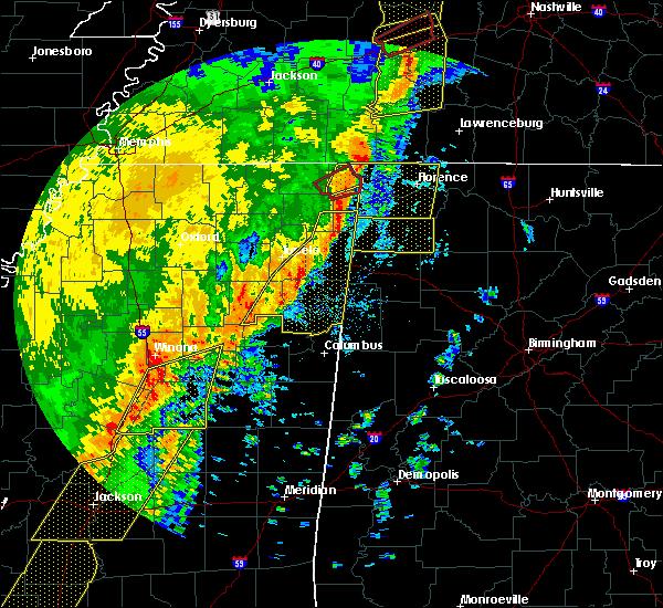 Radar Image for Severe Thunderstorms near Hamilton, AL at 1/11/2020 7:42 AM CST