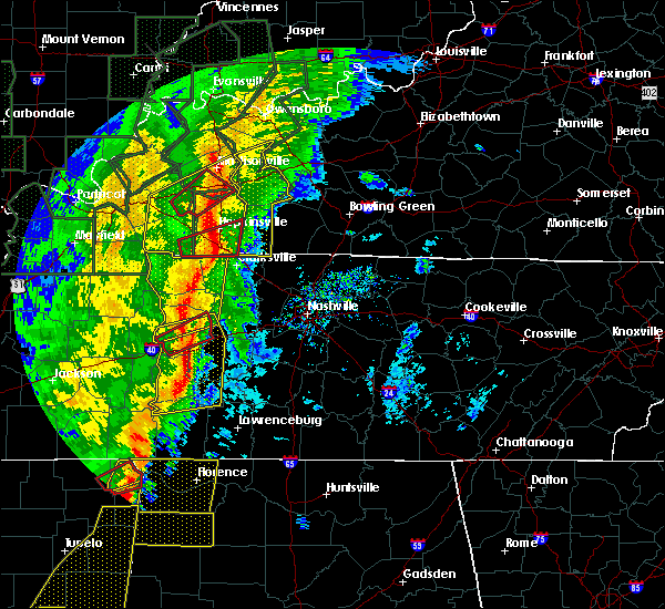 Radar Image for Severe Thunderstorms near Clarksville, TN at 1/11/2020 7:43 AM CST