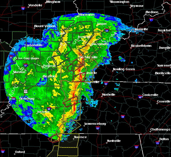 Radar Image for Severe Thunderstorms near Hopkinsville, KY at 1/11/2020 7:43 AM CST