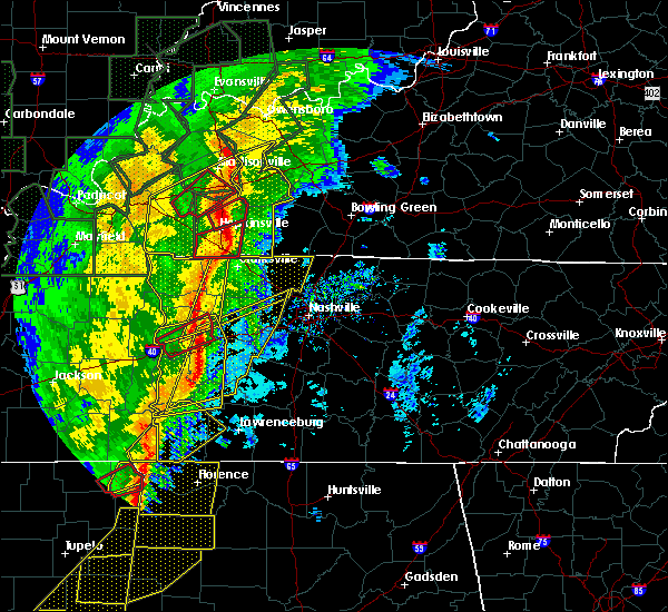 Radar Image for Severe Thunderstorms near Wrigley, TN at 1/11/2020 7:45 AM CST