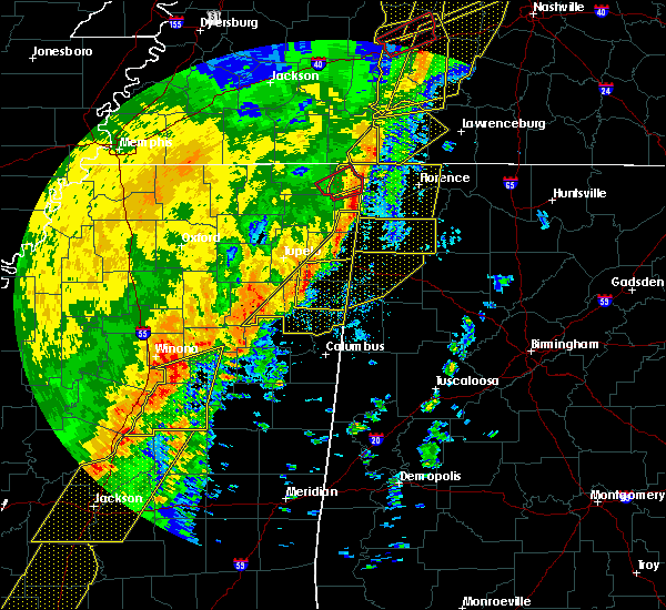 Radar Image for Severe Thunderstorms near Littleville, AL at 1/11/2020 7:47 AM CST
