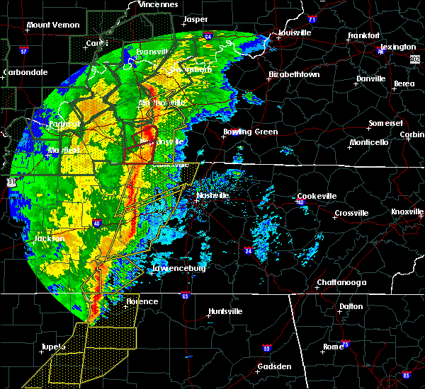 Radar Image for Severe Thunderstorms near Clifton, TN at 1/11/2020 7:55 AM CST