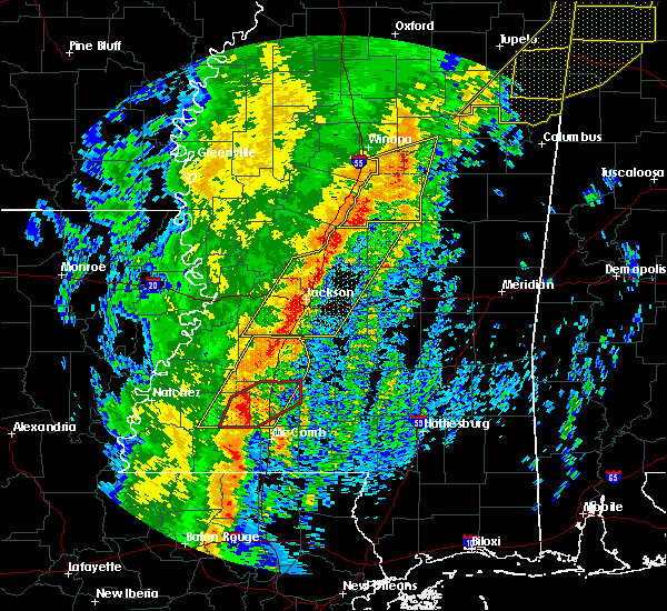 Radar Image for Severe Thunderstorms near Flowood, MS at 1/11/2020 8:01 AM CST
