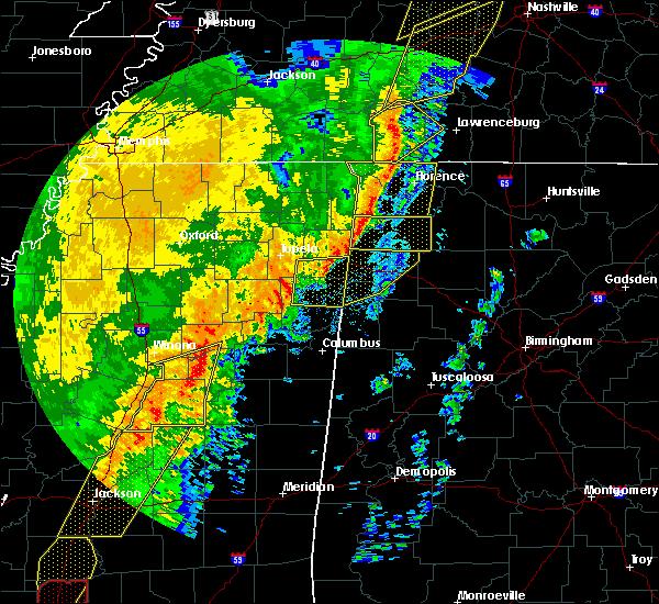 Radar Image for Severe Thunderstorms near Hamilton, AL at 1/11/2020 8:08 AM CST