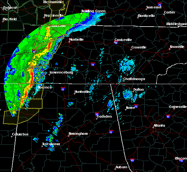 Radar Image for Severe Thunderstorms near Littleville, AL at 1/11/2020 8:10 AM CST