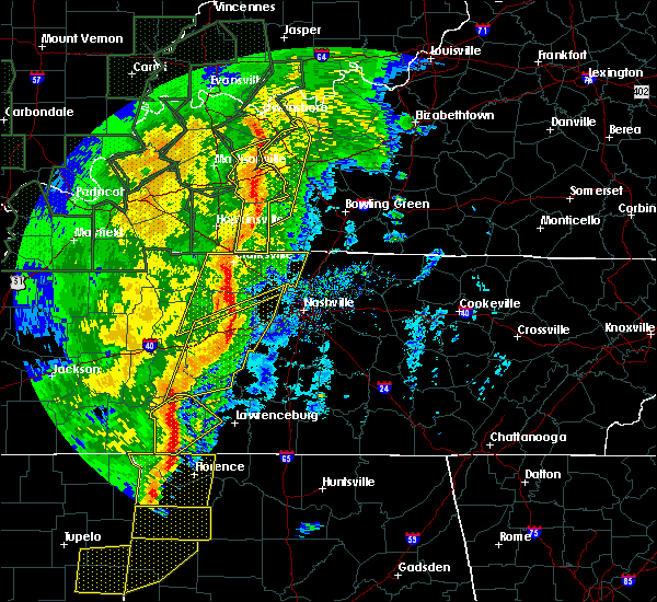 Radar Image for Severe Thunderstorms near Linden, TN at 1/11/2020 8:09 AM CST