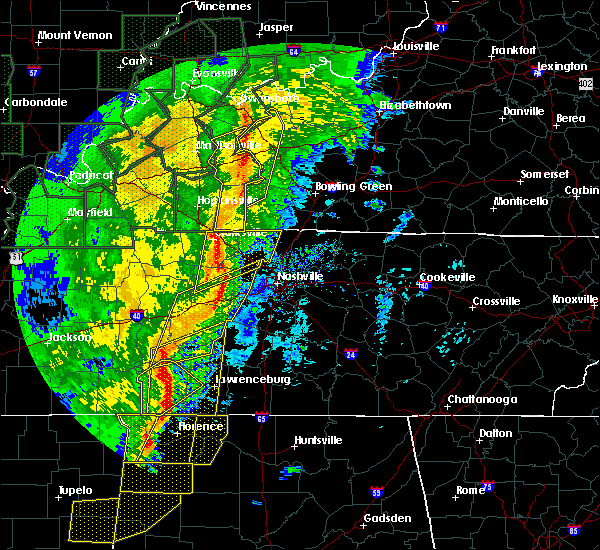 Radar Image for Severe Thunderstorms near Clarksville, TN at 1/11/2020 8:11 AM CST